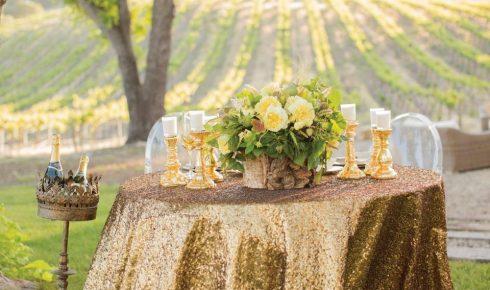 metallic-tablecloth